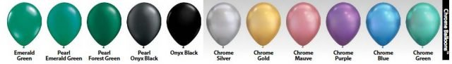 more colors like chrome silver and chrome gold balloon colors