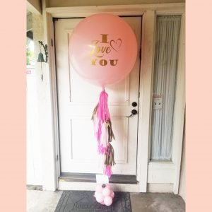 I love you tassel balloon